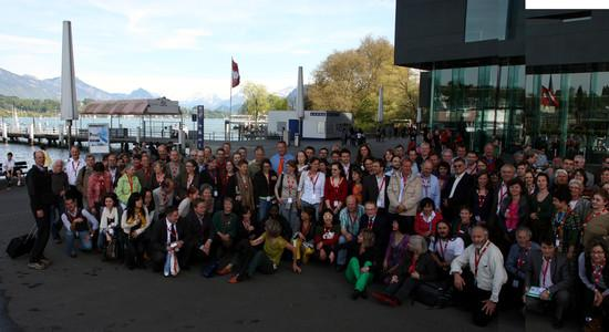 Participants at the GMO-Free Regions Conference in Luzern, April 2009